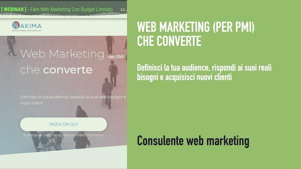 Esempio di messaggio efficace per la consulenza di web marketing