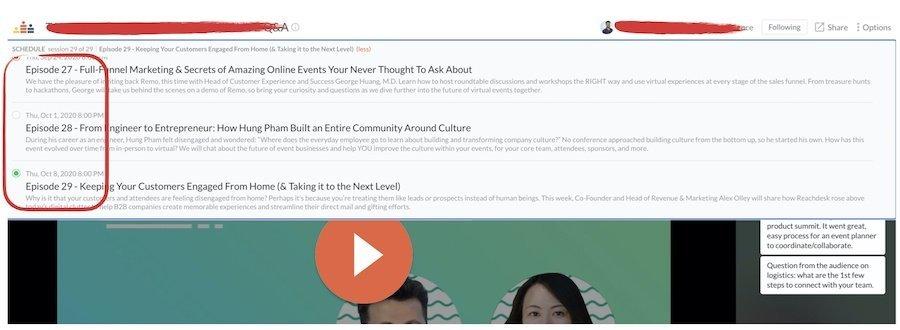 Crowdcast è la piattaforma per gestire webinar e formazione onnline con funzionalità molto utili di interazione e di connessione tra utenti