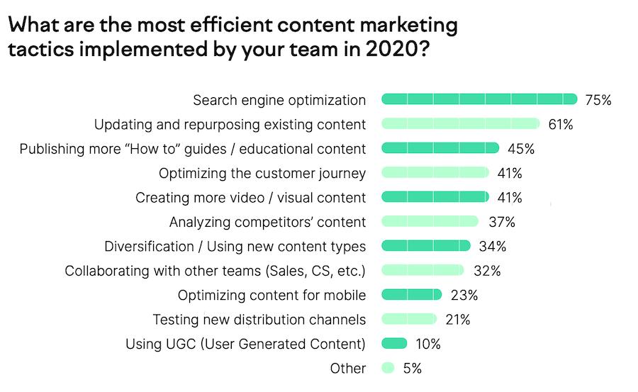 Statistiche riguardanti i contenuti e l'importanza del piano editoriale