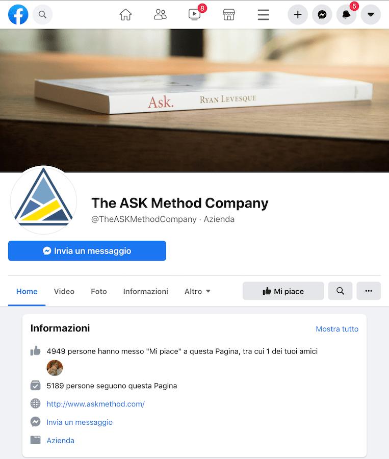Pagina facebook di ASK Method